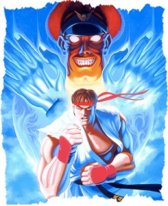 Ryu y Mr. Bison Street Fighter 2