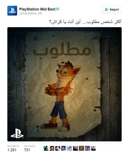 Twitter PlayStation insinua el lanzamiento un nuevo Crash Bandicoot