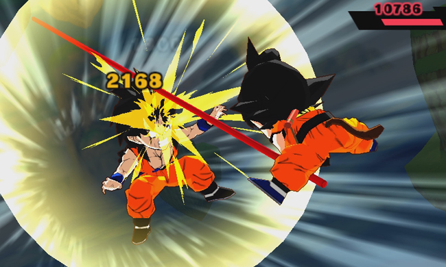 Dragon Ball Fusion pantalla de juego