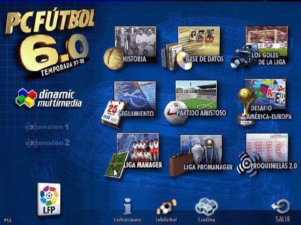 PC Fútbol 6 mánager de futbol de la liga de las estrellas