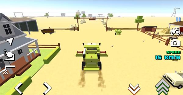 Blocky Farm juego de granja similar a Hay Day
