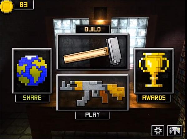 Guncrafter es un juego como minecraft en móviles android
