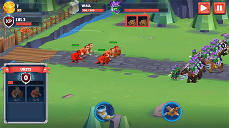 Game of Warrior es un juego del mismo estilo que Lords Mobile