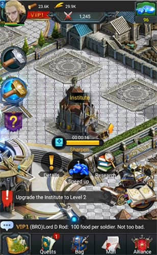 Rise of the Kings juego similar a Lords Mobile